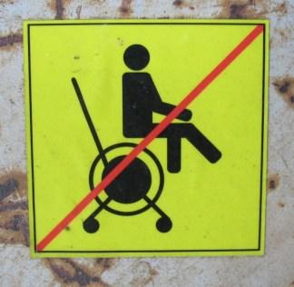 nicht sitzen
