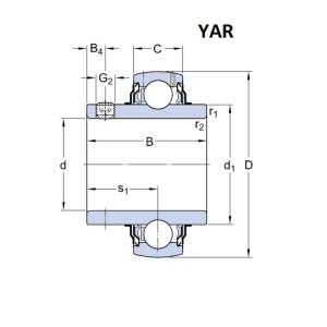 SKF YAR 203 (17x40x27,4)
