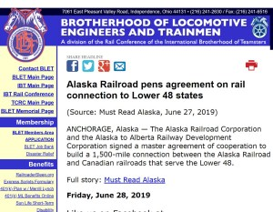 A2A news articles Brotherhood of Locomotive Engineers and Trainmen