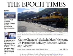 A2A Rail and Epoch Times Announcement about Presidential Permit