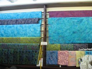 Batik fabrics at Fabric Mill