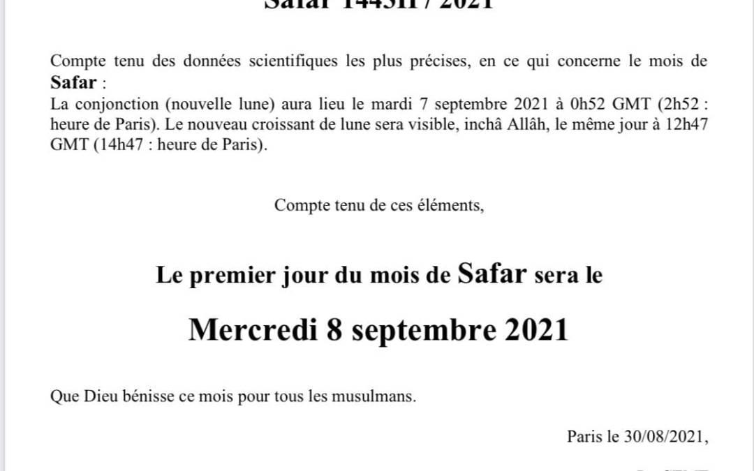 Début du mois de Safar