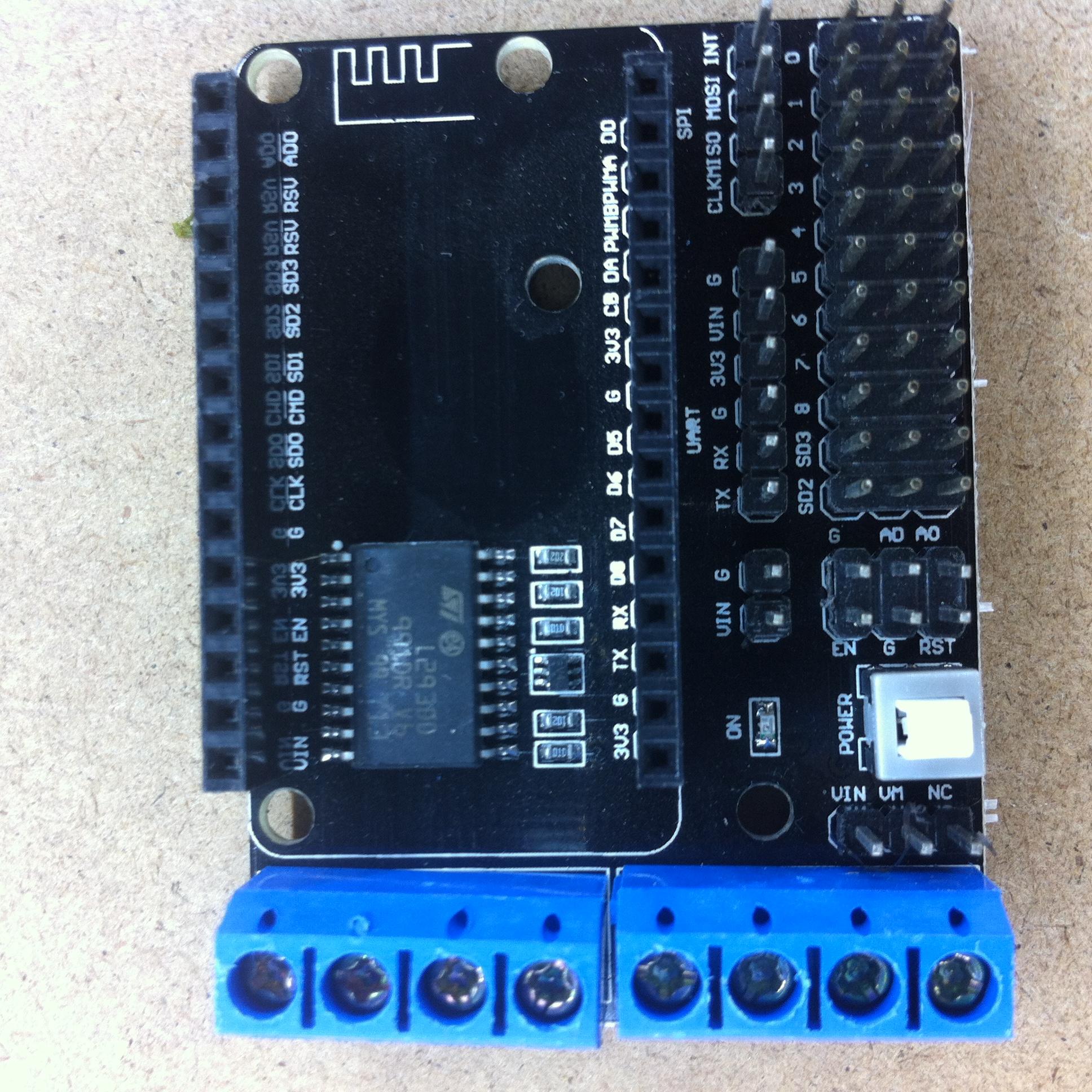 L293D Motor Driver Shield for NodeMcu ESP8266 - A2D Electronics