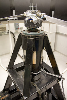 Spin test stand for determining unsteady aerodynamic loads