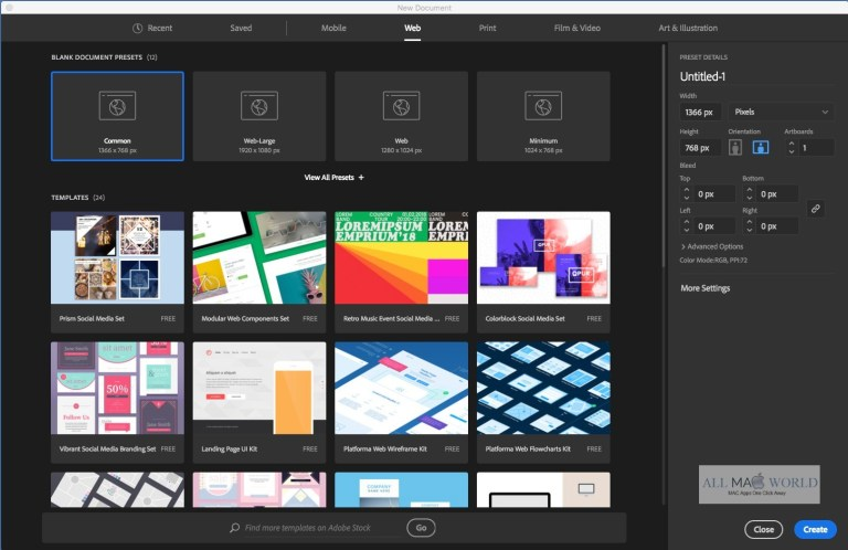 Adobe Illustrator CC 2019 23.0 for Mac Free Download