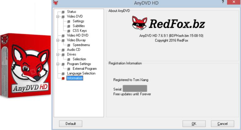 Redfox AnyDVD 8.3.2 Crack Full + Torrent Download