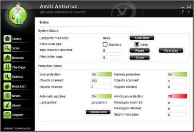 NETGATE Amiti Antivirus 2019 25.0.360 Crack & Serial Key