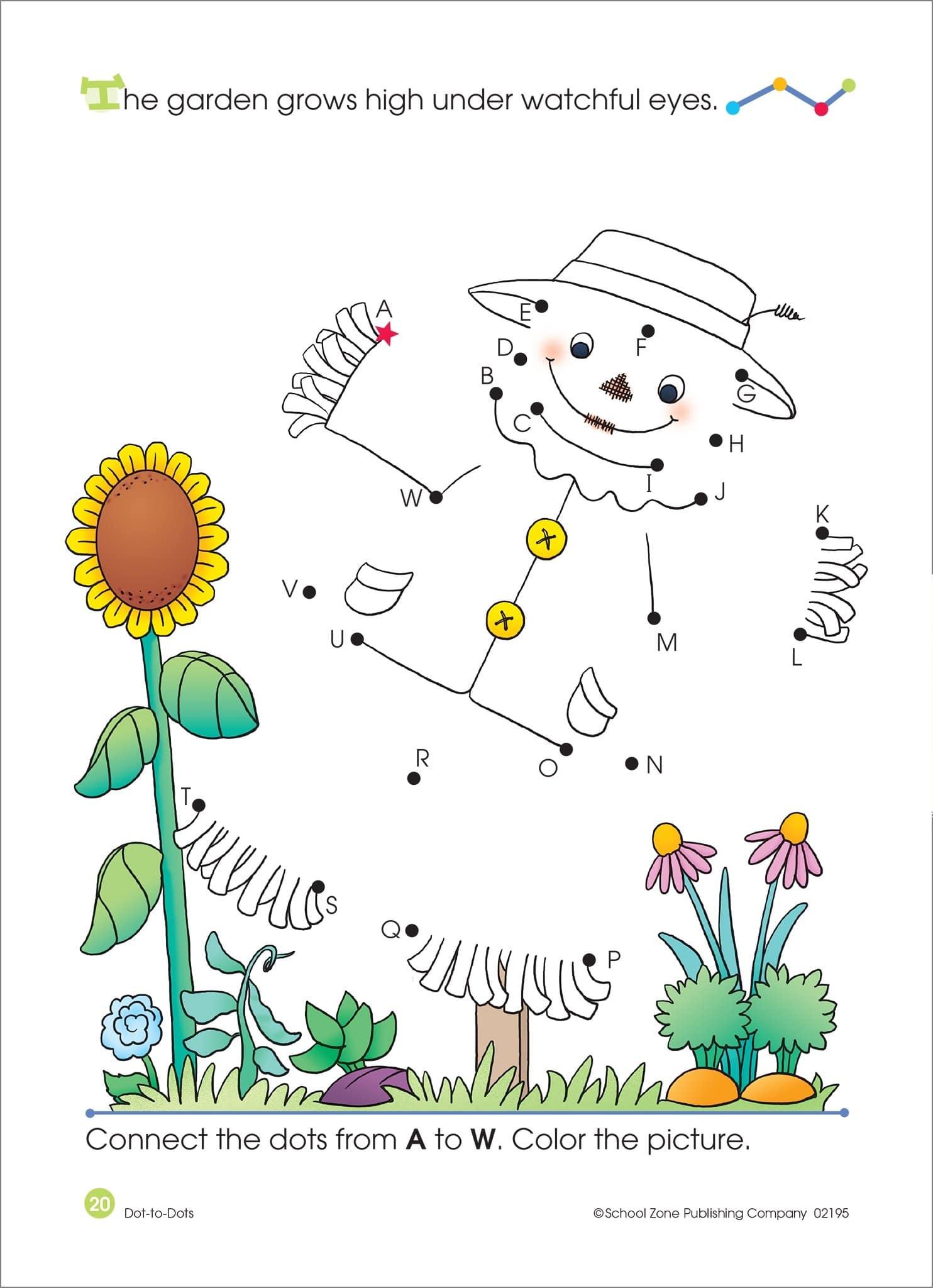 Dot To Dots Alphabet Activity Workbook