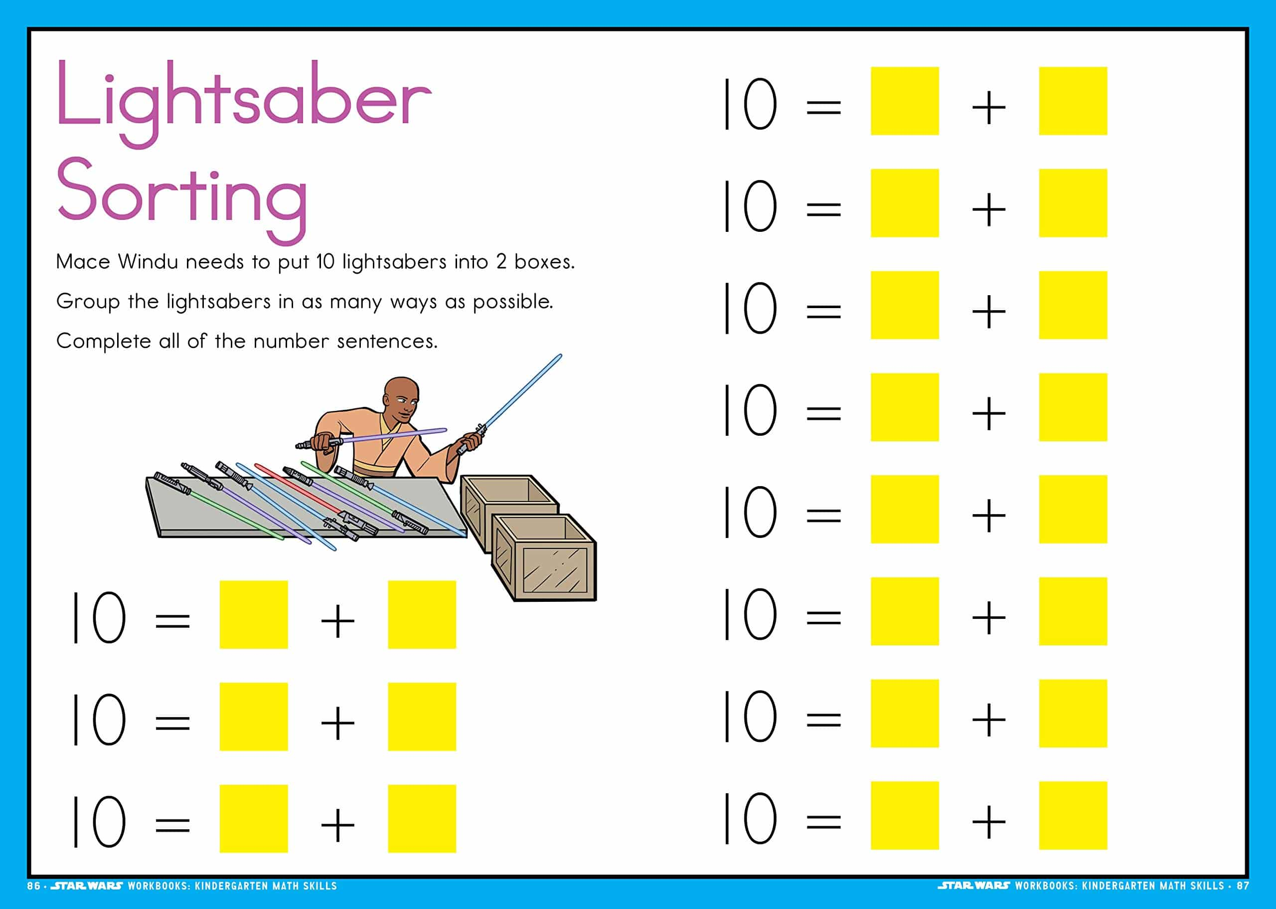 Star Wars Workbook Kindergarten Math Skills