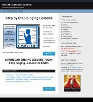 Online Singing Lessons for Adults - Step by Step Singing Lessons