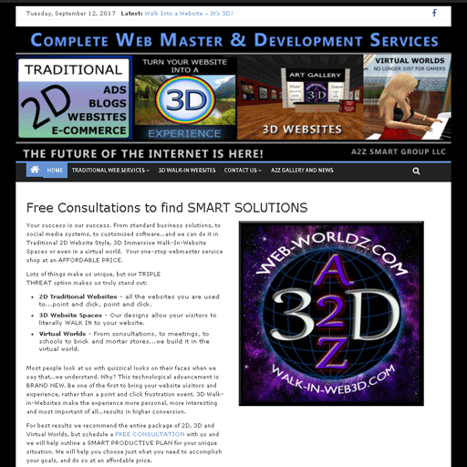 A2Z Smart Group 2D Site - You are on this site now!