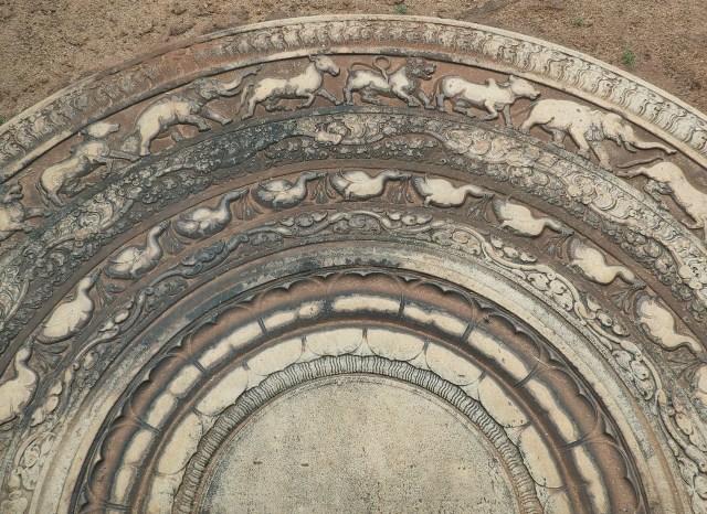 """The moonstone of """"Biso Maligawa"""" - Anuradhapura era"""