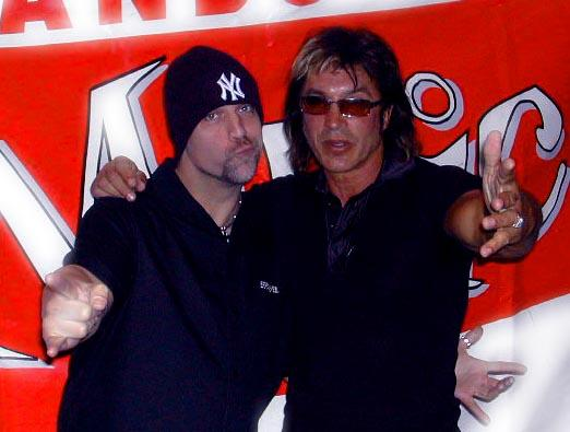 DS and favourite guitarist George Lynch    Doug Steele-Radio