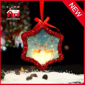 Glass Decorative Star Shaped Christmas Ornaments From