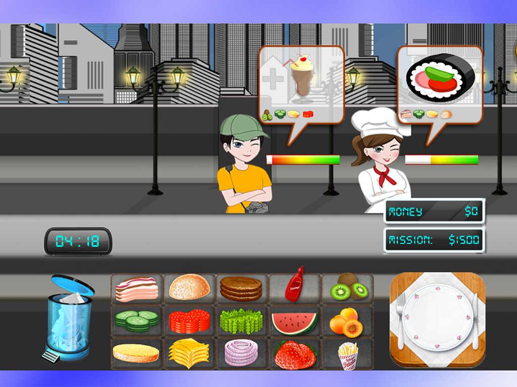 free kitchen games cabinet app shopper breakfast food shop cooking for