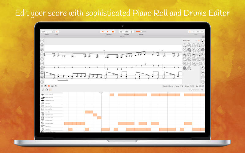 Stave'n'Tabs Pro for Mac 3.6 破解版 - 优秀的乐谱编辑制作工具