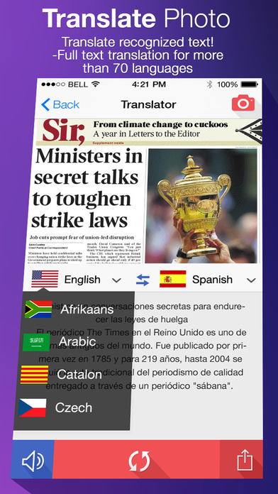 Translate Photo - OCR Camera Scanner & Translator iPhone