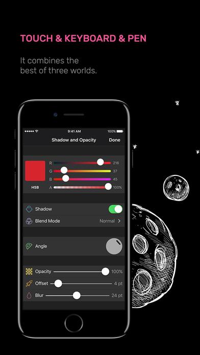 Screenshot do app Vectornator Pro - Illustration & Design