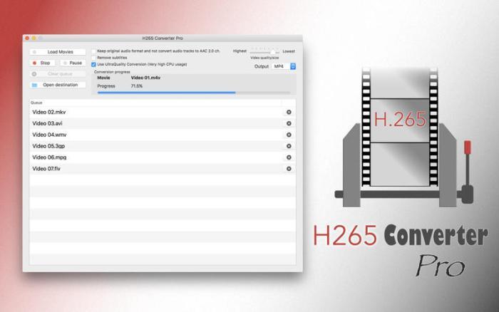 H265 Converter Pro 2 3 download free | Mac Torrent Download