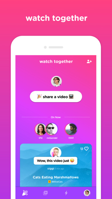 Screenshot do app Uptime – Watch YouTube together