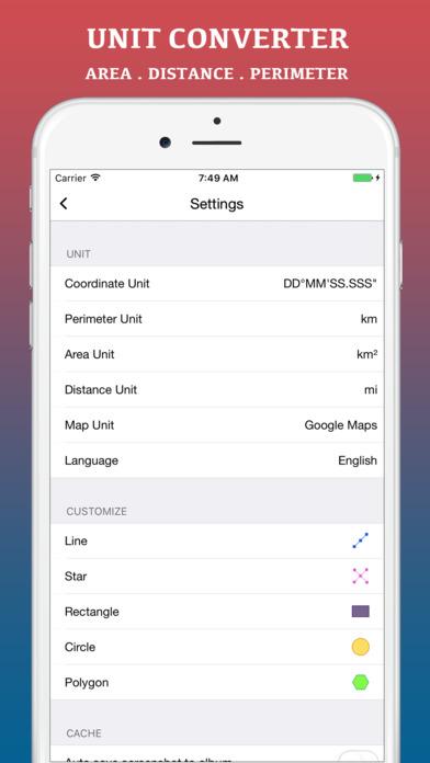 Screenshot do app Planimeter