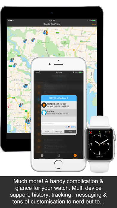 Screenshot do app Unhand Me! Get notified on your watch when someone handles your phone