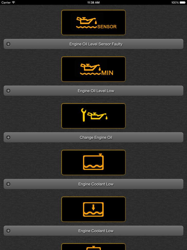 App Shopper App for MINI with Mini Cooper Warning Lights