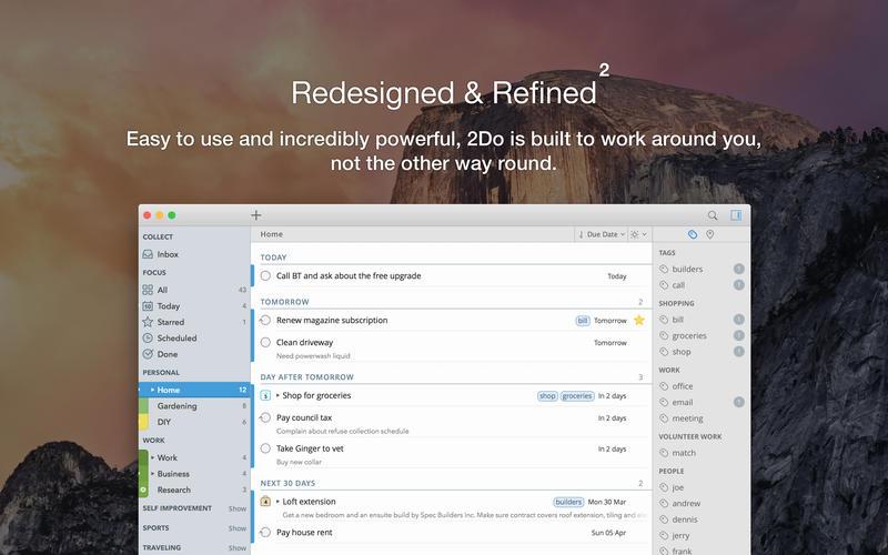 2Do 2 for Mac 2.3 激活版 - 优秀的待办事项管理GTD工具