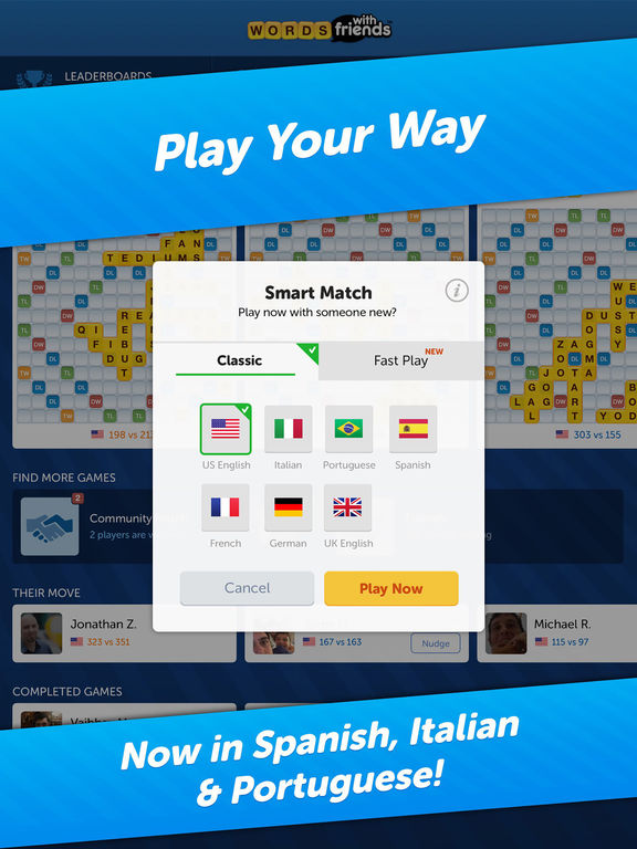 Words With Friends: Free Word Game - Fun for All Screenshot