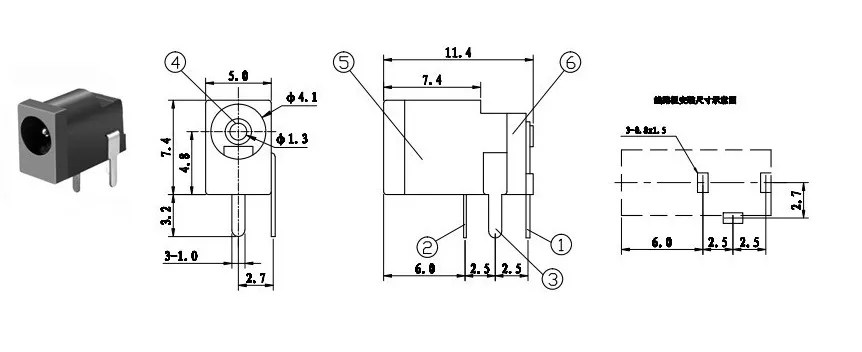 China 10A DC Power Connector,Power socket,DC Female Socket