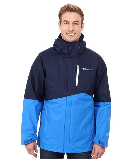 Cheap Price Columbia Powderkeg™ Interchange Jacket Collegiate Navy/Hyper Blue/White Pop/Collegiate Navy - Men's Hooded Jackets