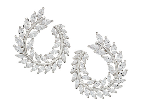 Nina Front To Back Fern Hoop Earrings at Zappos.com