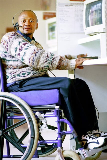 Computer adapted for disabilites