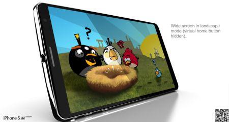 Concept: iPhone 5 LM pulsante Home virtuale