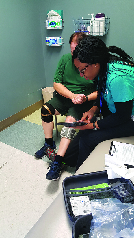 Performing the initial stimulation testing to determine whether the desired muscle activation is elicited prior to ambulation.
