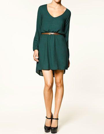 Robe Verte Zara Tendances De Mode