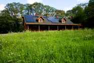 The barn located on site with pv panels on south facing roof