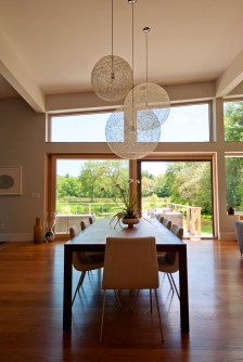 Dining room and pasture beyond