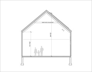 Section through Barn