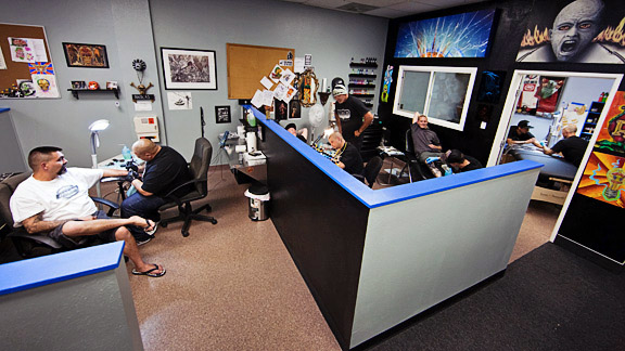 Inside Mike Metzger39s tattoo shop