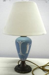 Lamps - Vintage Wedgewood Blue Jasperware Table Lamp with ...