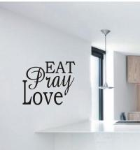 Wall Decals - VINYL DECAL - EAT PRAY LOVE was listed for ...