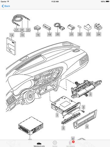 Piezas Audi y diagramas en el App Store