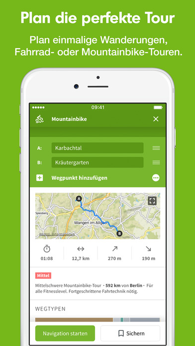 Komoot - Fahrrad & Wander Guide & GPS Navigation Screenshot