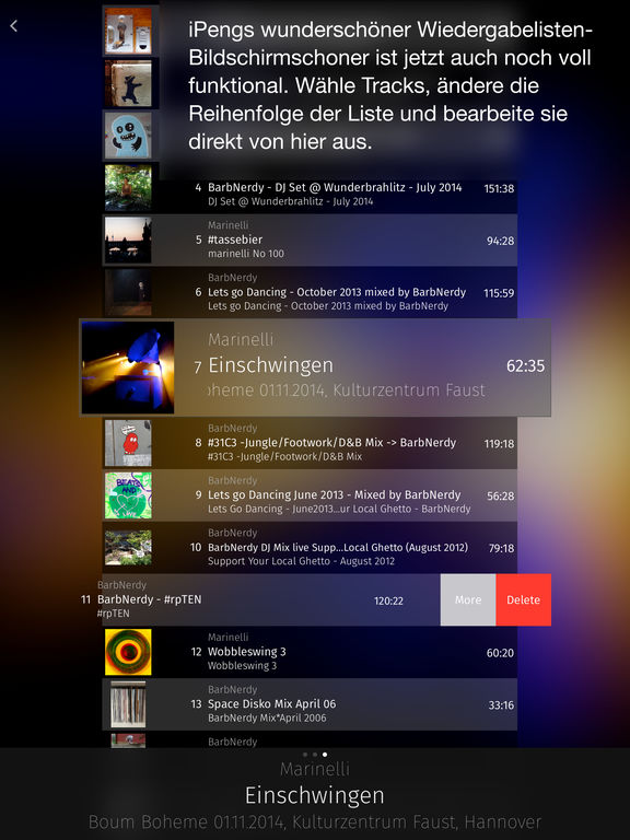 iPeng 9 - Die Squeezebox - Fernbedienung Screenshot