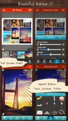 Frame Artist Pro - Photo Collage Editor, Pic Stitch with Pic Frame Templates & Filter Effects (フレーム),  合成写真, コラージュ 作成, 文字入れ