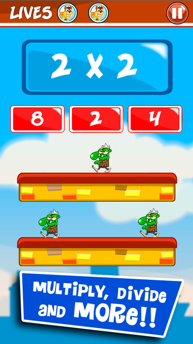 Monster Numbers: Times Tables Math learning Games Screenshot