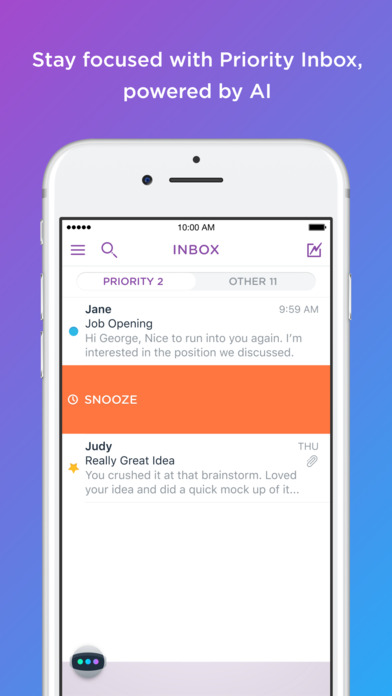 Astro: AI meets Email Screenshot
