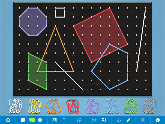 This digital geoboard is one of 8 iPad apps are sure to liven up your math summer school program. Get students the practice they need in a fun and interactive way. Check these 8 apps out! (great for getting that extra math boost at home during the summer too!)