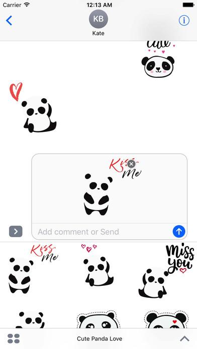 Cute Panda Love Sticker Pack 通过 Asif Mohd.